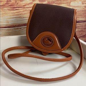 Dooney & Bourke Vintage Brown Leather Mini Bag